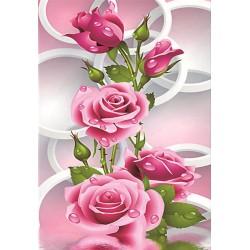 "Алмазная вышивка 30 х 40 см ""Розовые розы"""