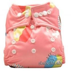 """Многоразовый подгузник ТМ """"BabyLand"""" pink cake"""