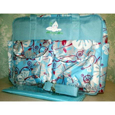 Большая сумка для мамы/на коляску Mammy Bag (Blue)