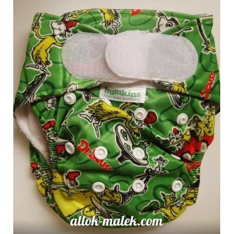 Багаторазові підгузники Bumkins (Green turtles)