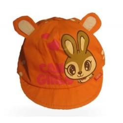 Летняя шапочка с козырьком и ушками от 0 до 3 мес.