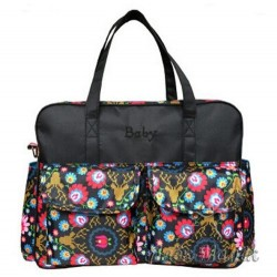 Велика сумка для мами / на дитячий візок (Black)