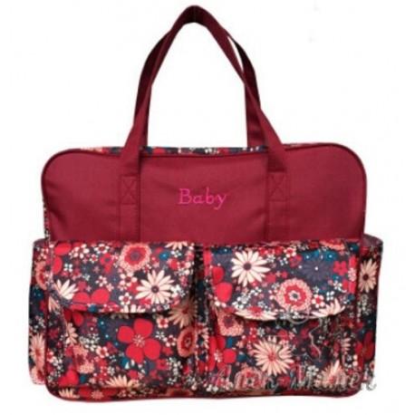 Велика сумка для мами / на дитячий візок (Bordo)