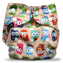 Багаторазовий підгузник для басейну Little Bloom 3-17 кг (Beige Owl)