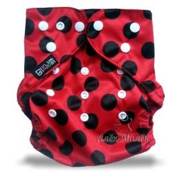 Многоразовый подгузник для бассейна Little Bloom 3-17 кг (Black Dots in Red)