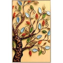 """Алмазная вышивка 47 х 30 см """"Дерево цветное Пахира"""""""