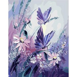 Картина ручної роботи - малювання за номерами (Метелик)