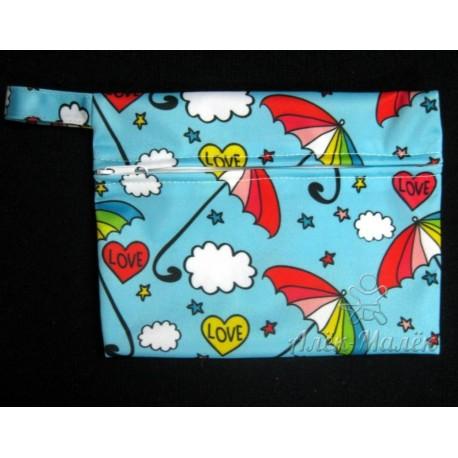 Непромокальна сумка для підгузників і мокрої білизни (Парасольки)