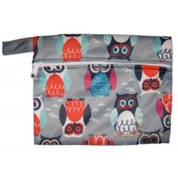 Непромокаемая сумочка для подгузников и мокрого белья (Grey Owls)
