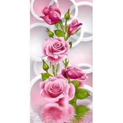 """Діамантова вишивка 20 х 36 см """"Рожевi троянди"""""""