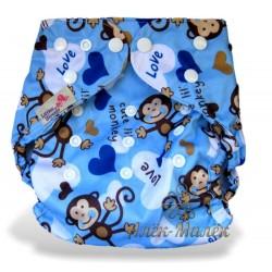 Многоразовый подгузник для бассейна Little Bloom 3-17 кг (Blue Zig Zag)