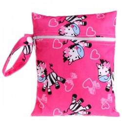 Непромокальна сумка для підгузників і мокрої білизни (Zebras)