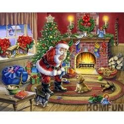 """Діамантова вишивка 15 х 20 см """"Рiздвяний Санта"""""""