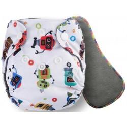 """Комплект: Угольный подгузник для новорожденных """"Pororo"""" 2-10 кг + угольный вкладыш 5 слоев (Mad Robots)"""