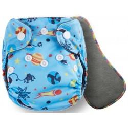 """Комплект: Угольный подгузник для новорожденных """"Pororo"""" 2-10 кг + угольный вкладыш 5 слоев (Open Space)"""